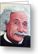 Albert Einstein Greeting Cards - Einstein Greeting Card by Tom Roderick