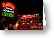Photographers Ellipse Greeting Cards - El Azteca Restaurant Greeting Card by Corky Willis Atlanta Photography