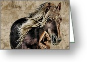 Caballo Greeting Cards - El Caballo Greeting Card by Dancin Artworks