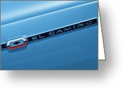 Blue Buick Greeting Cards - El Camino Greeting Card by Robert Harmon