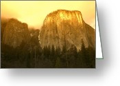 Summit Greeting Cards - El Capitan Yosemite Valley Greeting Card by Garry Gay