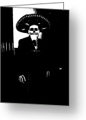 Charro Greeting Cards - El Charro Greeting Card by Ana Julia Fishman