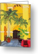 Puerto Rico Convent Greeting Cards - El Convento in Old San Juan Greeting Card by Gloria E Barreto-Rodriguez