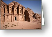 Classical Style Greeting Cards - El Deir, The Monastery, Petra, Jordan Greeting Card by Joe & Clair Carnegie / Libyan Soup