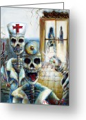 Nurses Greeting Cards - El Doctor Greeting Card by Heather Calderon
