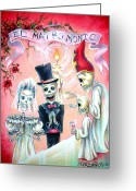 Mexican Greeting Cards - El Matrimonio Greeting Card by Heather Calderon