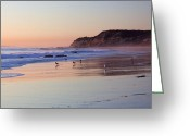 Sandstone Bluffs Greeting Cards - El Moro Beach Crystal Cove State Park Greeting Card by Cliff Wassmann