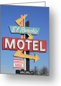 Motel Greeting Cards - El Rancho Motel Stockton CA Greeting Card by Troy Montemayor