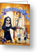 Children Ice Cream Greeting Cards - El Regano Greeting Card by Heather Calderon