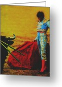 Torero Greeting Cards - El torero Greeting Card by Michael Mogensen