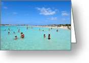 Suntan Greeting Cards - Elafonisi beach Greeting Card by George Atsametakis