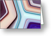 Pixel Bending Greeting Cards - Elbow Bends Greeting Card by Greg Reed Brown