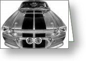 Hot Rod Drawings Greeting Cards - Eleanor Ford Mustang Greeting Card by Peter Piatt