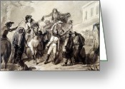 Catonsville Greeting Cards - Election Scene, 1845 Greeting Card by Granger