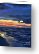 Myrtle Beach South Carolina Greeting Cards - Electric Blue Greeting Card by Jeff Breiman