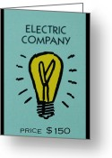 Monopoly Greeting Cards - Electric Company Greeting Card by Rob Hans