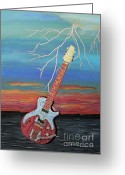 Ellenisworkshop Greeting Cards - Electric Greeting Card by Eric Kempson
