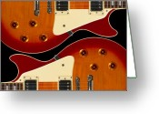 Knobs Greeting Cards - Electric Guitar II Greeting Card by Mike McGlothlen