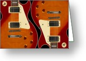 Knobs Greeting Cards - Electric Guitar III Greeting Card by Mike McGlothlen