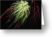 4th Greeting Cards - Electric Jellyfish Greeting Card by Rhonda Barrett