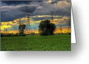 Toledo Greeting Cards - Electric Midwest Greeting Card by Joshua Ball