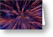 Pyrotechnics Greeting Cards - Electric Greeting Card by Paul Mangold