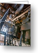 Abstract Building Greeting Cards - Electric Plant Greeting Card by Carlos Caetano