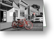 Eastbay Greeting Cards - Electric Vehicle . Peddle Power . Infinite Miles To The Gallon . 7D12729 Greeting Card by Wingsdomain Art and Photography