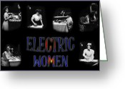 Appliances Greeting Cards - Electric Women Greeting Card by Andrew Fare