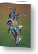 Lacy Contemporary Greeting Cards - Elegance Greeting Card by Anne Lacy
