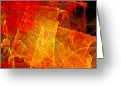 Sun Abstract Digital Art Greeting Cards - Elegance Of The Sun Greeting Card by Andee Photography