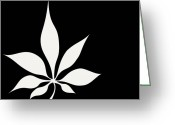 Leaves Photographs Greeting Cards - Elegancy Greeting Card by Lourry Legarde