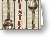 Brasserie Greeting Cards - Elegant Bistro 1 Greeting Card by Debbie DeWitt