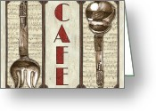 Brasserie Greeting Cards - Elegant Bistro 2 Greeting Card by Debbie DeWitt