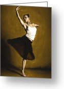 Pointe Greeting Cards - Elegant Dancer Greeting Card by Richard Young