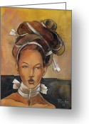 Racial Greeting Cards - Elegant Greeting Card by Jacque Hudson-Roate
