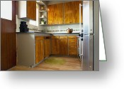 Cupboards Greeting Cards - Elegant Kitchen Interior Greeting Card by Inti St. Clair