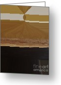 Dk Brown Greeting Cards - Elegant Movement Abstract Greeting Card by Marsha Heiken
