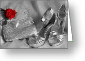 Beauty Mark Greeting Cards - Elegant Night Out in Selective Color Greeting Card by Mark J Seefeldt