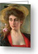 Signature Greeting Cards - Elegante Greeting Card by Albert Lynch