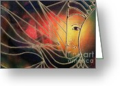 Hall Pastels Greeting Cards - Elemental 4  Greeting Card by Rosy Hall