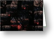Netting Digital Art Greeting Cards - Elemental Abstract Greeting Card by Michelle Lee