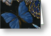 Elena Yakubovich Painting Greeting Cards - Elena Yakubovich - Butterfly 2x2 lower left corner Greeting Card by Elena Yakubovich