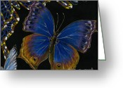 Elena Yakubovich Painting Greeting Cards - Elena Yakubovich - Butterfly 2x2 lower right corner Greeting Card by Elena Yakubovich