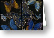 Elena Yakubovich Painting Greeting Cards - Elena Yakubovich Butterfly 2x2 Greeting Card by Elena Yakubovich