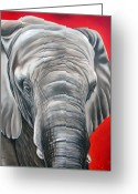 Ilse Kleyn Greeting Cards - Elephant six of eight Greeting Card by Ilse Kleyn
