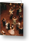 Entertainers Greeting Cards - Elevated View Of Ballroom Dancers Greeting Card by Ira Block