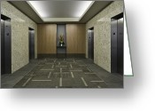 Elevators Greeting Cards - Elevators Greeting Card by Robert Pisano