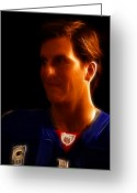 Celebrities Photo Greeting Cards - Eli Manning - New York Giants - Quarterback - Super Bowl Champion Greeting Card by Lee Dos Santos