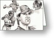 Eli Manning Greeting Cards - Eli Manning Greeting Card by Kathleen Kelly Thompson